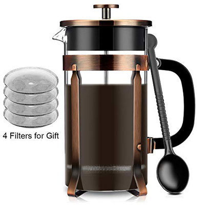 4. FAMIROSA French Coffee Press Maker