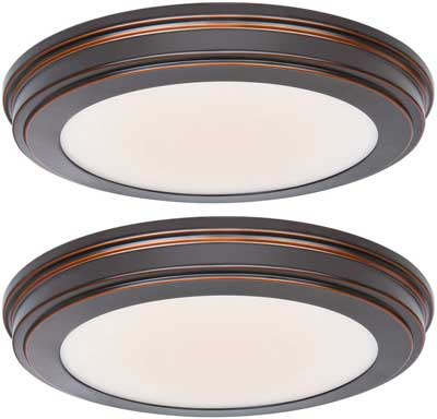 #5. Hykolity 13-Inch 1365LM 180W Incandescent CR190 Oil Bronze LED Round Ceiling Light Fixture