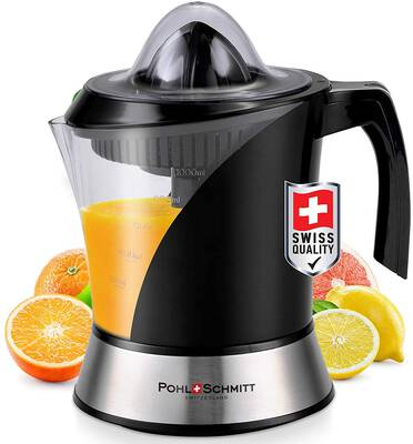 #8. POHL SCHMITT BPA-Free Large Capacity 34 Oz Easy to Clean Deco-Line Citrus Juicer Machine