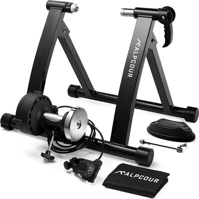 6. Alpcour Bike Trainer Stand for Road and Mountain Bikes