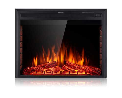 #2. SUNLEI 36 inch Recessed Built-in LED Multi-color Remote Control Electric Fireplace Insert