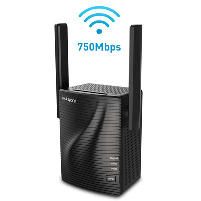 7. ROCK SPACE WiFi Extender with Access Ethernet Port (750Mbps)