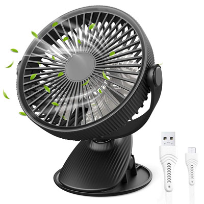 1. H+LUX Small Desk Fan