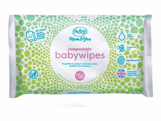 #2. Mum&You Biodegradable & Compostable Plastic-Free 672 Count 98% Water Baby Wet Wipes