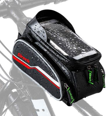 5. Sireck High Sensitivity Touch Screen Bike Phone Holder Bag with Waterproof Zippers
