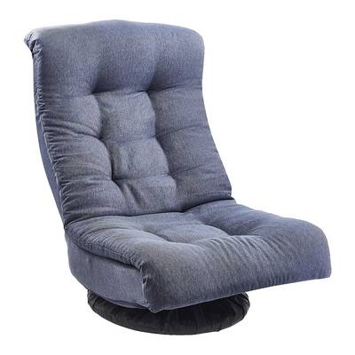 #8. Amazonbasics Adjustable Denim Adjustable with Headrest Swivel Foam Floor Lounge Chair