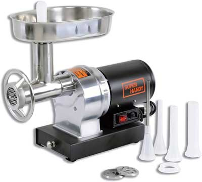 #1. SuperHandy ½ HP Stainless Steel Sausage Stuffer 480lbs/Hour Heavy-Duty Electric Meat Grinder