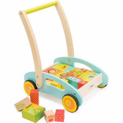 #3. cozy Wooden Baby Walker (37 Pcs) - Updated Version