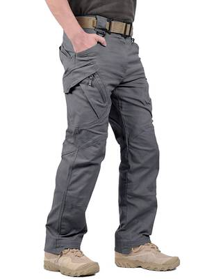 #6. LABERYZON Lightweight Rip-Stop Causal Cargo Outdoor Work Stretchable Waist Men's Tactical Pants