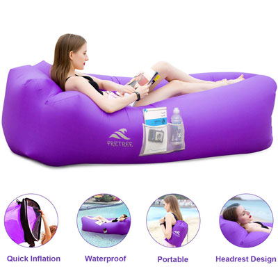 4. FRETREE Inflatable Lounger Air Sofa for Parties, Camping, and Picnics