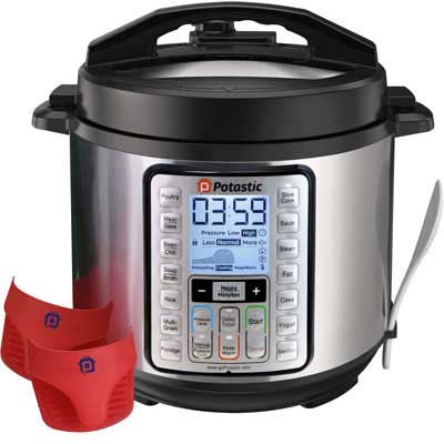 2. Potastic 10-in-1 6Qt Programmable Pressure Steel Pot
