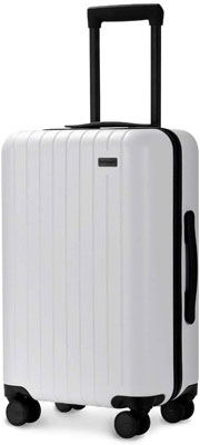 #5. GoPenguin Luggage Hardshell Suitcase with Spinner Wheels Built-in TSA Lock for Travel (White)