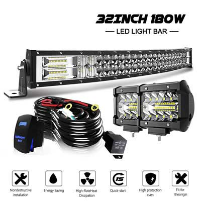 3. KEENAXIS 32 Inches Curved LED Light Bar