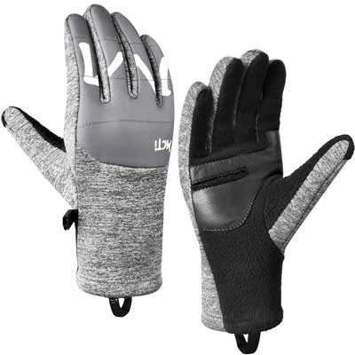 3. MCTi Touchscreen Goatskin Leather Winter Gloves for Cycling, Running
