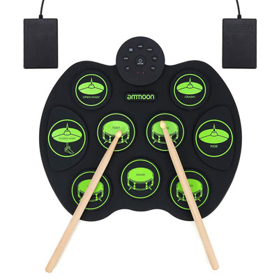 6. ammoon Electronic Drum Set for Children and Beginners