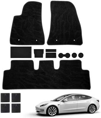 #6. Mixsuper with Console & Center Liner Models All-Weather Floor Mats (Black)