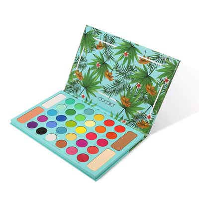 6. Docolor Tropical Eyeshadow Palette, 34 Color Highly-Pigmented Professional Makeup
