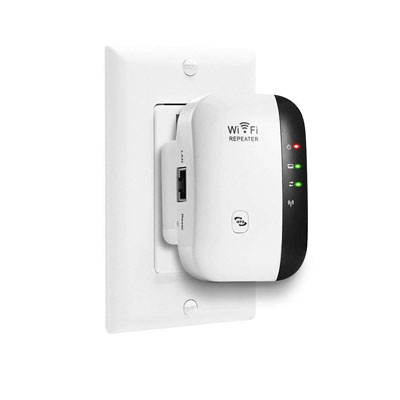 9. AWINLI 300 Mbps WiFi Extender - Full Signal Coverage