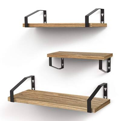 #8. Veken Floating Shelves wall Mounted Set of 3