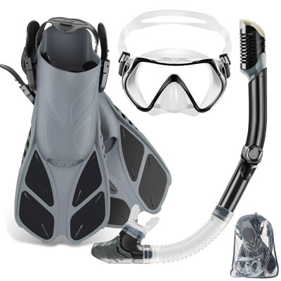 #7. ZEEPORTE Full Face Snorkel Mask