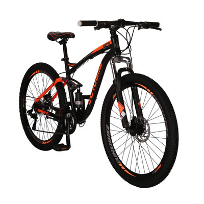 2. LZBIKE BICYCLE E7 Mountain Bike with 21 Speeds and Good Shock Absorption