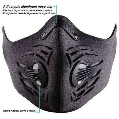 #7. Tanicor Anti-Pollution 4 Activated Carbon Reusable Dustproof Pollution Mask for Men Women