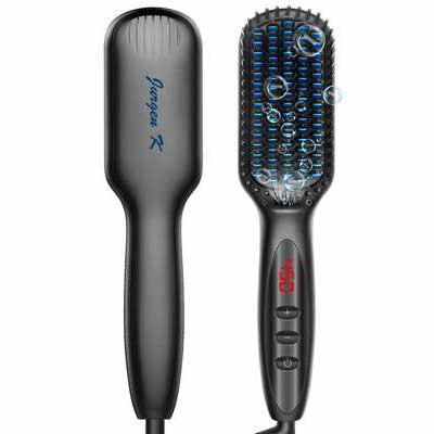 #6. Jurgen K Ceramic & Ionic Brush Fast Heating & Anti-Scald Dual Voltage Straightening Comb for Men