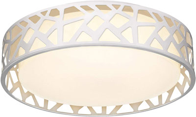 #8. VICNIE 12-Inch 15W 1100 Lumens Dimmable 3000K Warm White Flush Mount Light Fixture