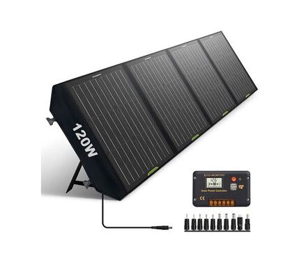 3. Eco-worthy 120W Foldable Portable Solar Panel for RV Camping and Hiking for Tablets