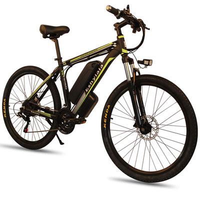 8. CLIENSY 26 Inches Mountain Bike with a Removable Lithium Battery & 350W Brushless Motor