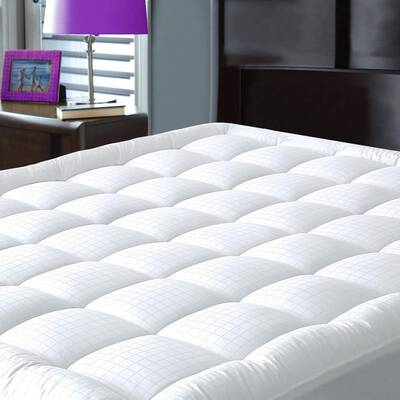 #8. JURLYNE Pillow Top Mattress Cover - Breathable Mattress Topper