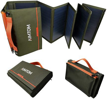 9. Aimtom Compact Portable Solar Panel with USB Connector Type for Eco-Friendly Charging