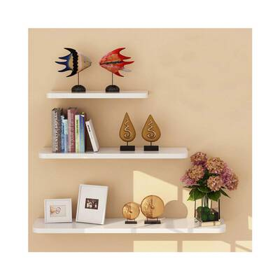 #6. WUDEBHOM White Shelf for Wall