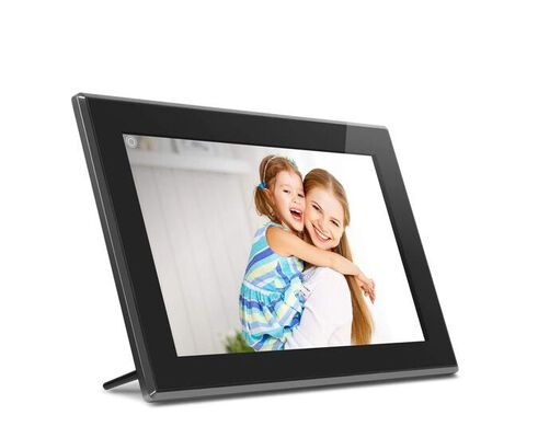 1. Aluratek Black Digital Photo Frame with Touchscreen LCD Display with Inbuilt Memory
