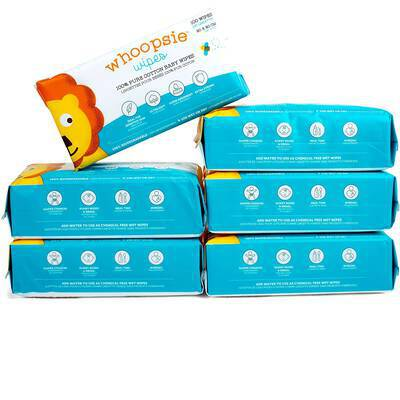 #10. Whoopsie Wipes 100% Pure Cotton Soft & Sensitive Extra-Strong & Absorbent Baby Wipes