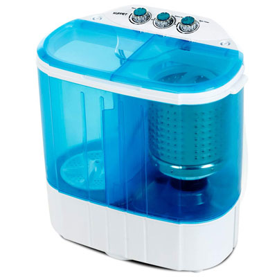 6. KUPPET Portable Washing Machine for Apartments, Dorms and RV Camping (Blue)