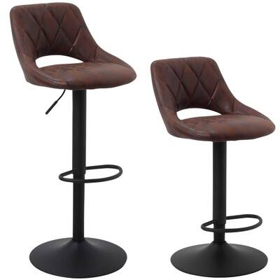 #1. SUPERJARE Adjustable Bar Stools, Set of 2