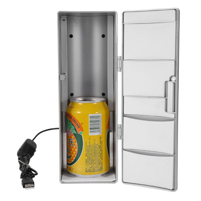 10. Zetiling Mini Fridge, Multi-Functional Portable USB Interface Refrigerator
