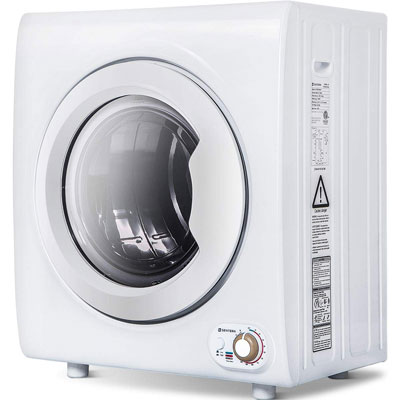 6. Merax Sentern Compact Laundry Dryer w/1400W Power (White)