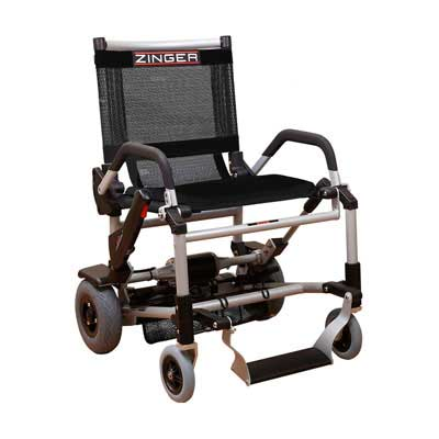 3. Zinger Chair Motorized Ultra-Portable Electric Mobility Chair, Black