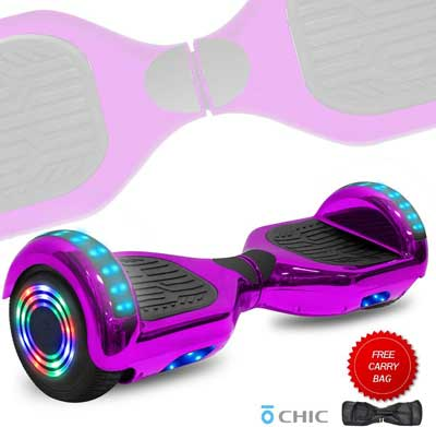 #6. DOC UL Certified 6.5'' with Built-in Speaker & LED Lights Wheels Self-Balancing Hoverboard
