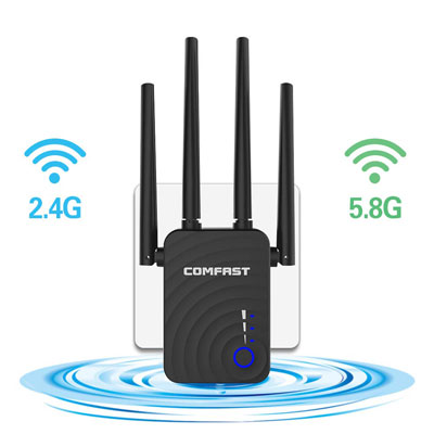 3. GAOAG WiFi Range Extender with 4 Antennas & WPS Function
