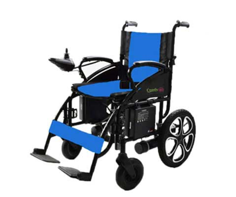 10. ComfyGO Electric Wheelchair Motorized Foldable Power Wheelchairs, FDA Approved (Blue)