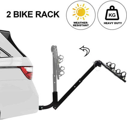 8. CAR DRESS Bike Carrier for Cars, SUV and Minivans