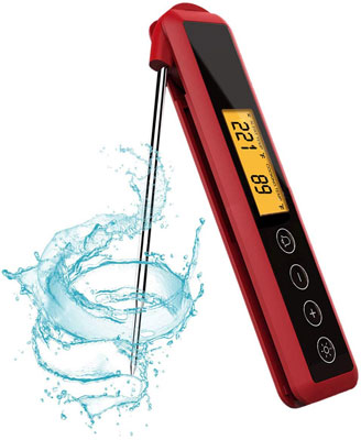 #10. Zitrads Digital Instant Food Thermometer with Backlight and Adjustable Target Temperature