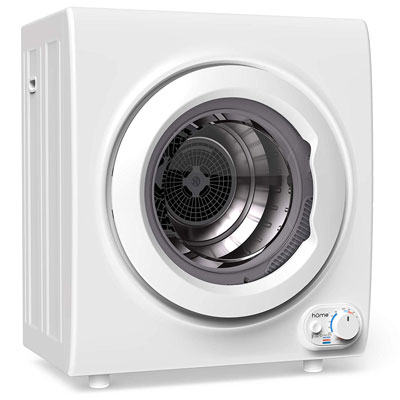8. hOmeLabs Laundry Dryer with Viewing Window & Control Panel Downside (9 Pounds Capacity)
