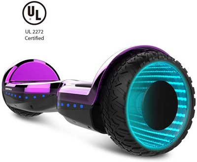 #5. WORMHOLE Off-Road Dual Motor 6.5'' Two-Wheels Self-Balancing Electric Hoverboard Scooter