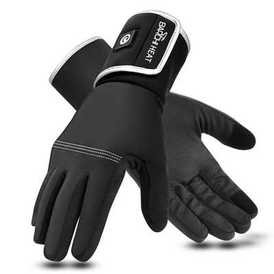 #2. BARCHI HEAT Rechargeable Heated Gloves with 7.4V 2200mAh Battery