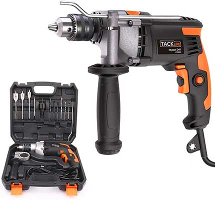 4. TACKLIFE PID03B 1/2 Inches  7.1A/ 850W 3000RMP Hammer Drill
