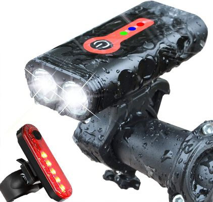 5. BurningSun Rechargeable Rotatable USB Bicycle Headlight with 5 Light Modes